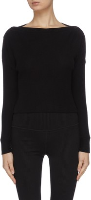 Beyond Yoga 'Your line' buttoned knit top