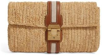 Mark Cross Raffia Sylvette Clutch Bag