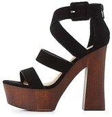 Charlotte Russe Qupid Strappy Platform Sandals