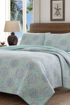 Tommy Bahama Wharton Landing Full/Queen Quilt & Sham 3-Piece Set - Breeze Blue