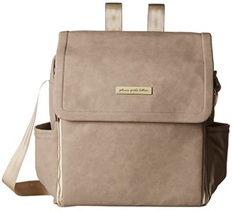 Petunia Pickle Bottom Matte Leatherette Boxy Backpack (Grey) Diaper Bags