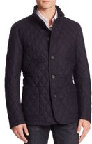 Sanyo Quilted Wool Blend Jacket