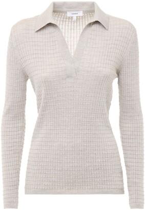 CASASOLA Cashmere & Silk Knit Polo Sweater