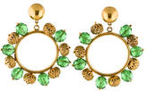 Dolce & Gabbana Beaded Hoop Clip-On Earrings w/ Tags
