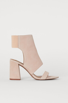 H&M Open suede ankle boots