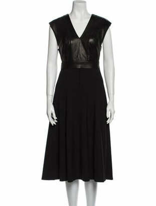 Narciso Rodriguez Virgin Wool Midi Length Dress w/ Tags Wool