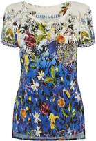 Karen Millen Stud-pocket Floral T-shirt