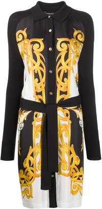 Versace Barocco-print shirt dress