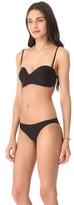 Mikoh swimwear Bordeaux Structured Bandeau Bikini Top
