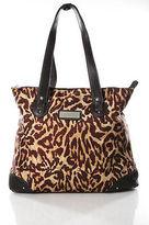 Nicole Miller Multi-Color Animal Print Canvas Tote Handbag
