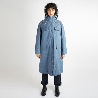 Kate Sheridan Blue Grid And Sherpa Pop Mac - S/M