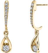 Sirena 1/3 CT. T.W. White Diamond 14K Gold Drop Earrings