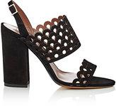 Tabitha Simmons Women's Ilma Laser-Cut Suede Slingback Sandals