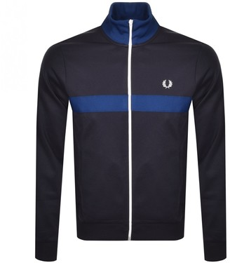 Fred Perry Chest Panel Track Jacket Navy