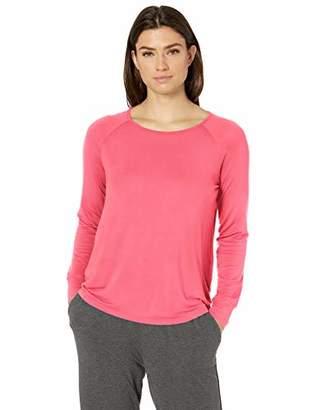 Amazon Essentials Relaxed Long-Sleeve Sleep T-Shirt Pajama Top,Medium