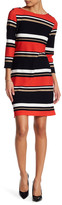 Sandra Darren Striped Sheath Dress (Petite)