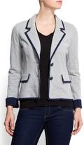 MANGO Contrasting trim blazer