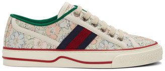 Gucci Green Liberty London Edition Tennis 1977 Sneakers