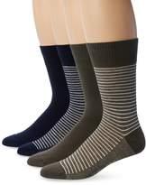 Levi's Men's 4 Pack 168 Series Striped Crew Socks