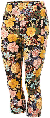 Running Bare Womens Ab Waisted Power Moves 3/4 Tights