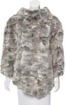 Glamour Puss Glamourpuss Fur Asymmetrical Poncho