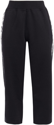 adidas by Stella McCartney + Adidas Cropped Printed French Organic-cotton Track Pants