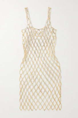 Area Crystal-embellished Chainmail Midi Dress - Gold