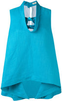 DELPOZO knot detail top - women - Linen/Flax/Viscose - 38