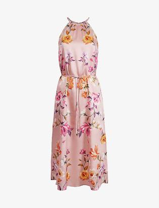 Ted Baker Rhubarb floral-print halterneck midi dress