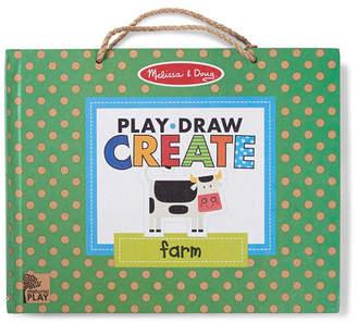 Melissa & Doug Melissa Doug Natural Play: Play, Draw, Create Reusable Drawing Magnet Kit - Farm 38 Magnets, 5 Dry-Erase Markers