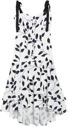 Yumi Kim Sweet Lady Leaf Print High/Low Dress