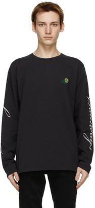 Saturdays NYC Black Rose Long Sleeve T-Shirt