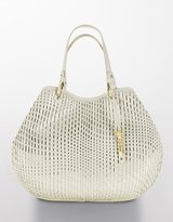 Eve Soft Woven Leather Tote