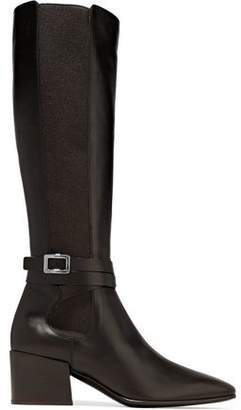 Roger Vivier Buckled Leather Knee Boots