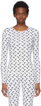 Marine Serre White Second Skin Moon Long Sleeve T-Shirt