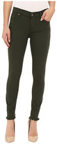 7 For All Mankind The Ankle Skinny with Raw Hem in Olive