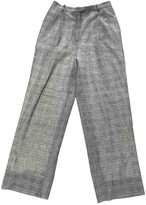 Christian Dior Grey Wool Trousers for Women Vintage