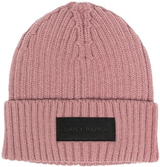 Daily Paper Ribbed-Knit Beanie