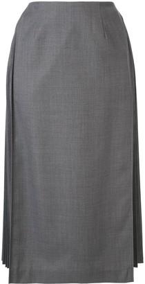 Le Ciel Bleu A-line half pleated skirt
