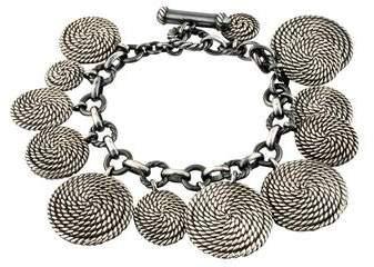 David Yurman Cable Coil Charm Bracelet