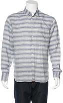Billy Reid Striped Linen Shirt