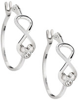 Disney Mickey Mouse Infinity Hoop Earrings by Arribas Brothers
