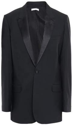 IRO Satin-trimmed Wool-blend Blazer