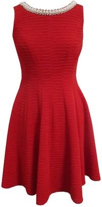 Sandra Darren Sleeveless Blister Knit Fit & Flare Dress