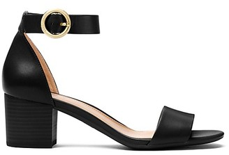 MICHAEL Michael Kors Lena Stacked-Heel Leather Sandals