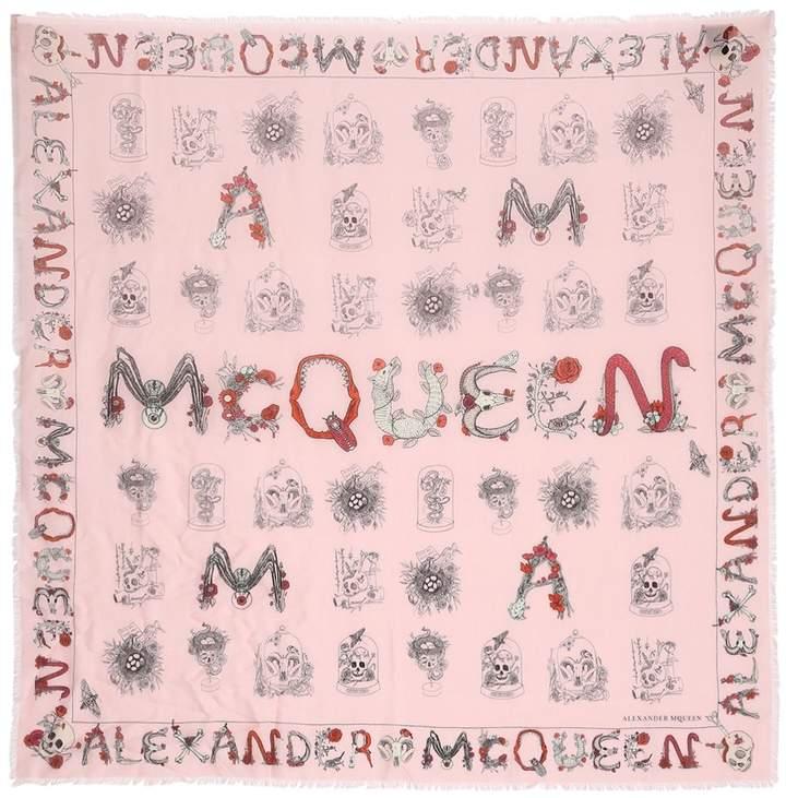 Alexander McQueen Mcqueen Cabinets Printed Scarf