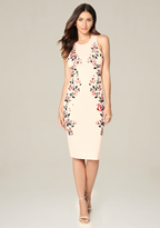 Bebe Floral Embroidered Dress
