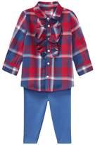 Ralph Lauren Plaid Top & Leggings Set (Infant)