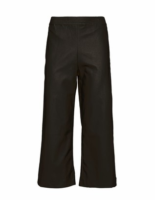 Naftul High Waisted Black Faux Leather Karate Fit Pants.