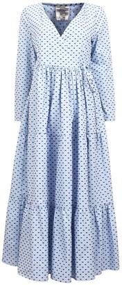 Baum und Pferdgarten Aymeline Dress in Brown/Blue Dots